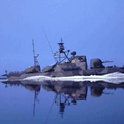Patrullbåten Hugin till sjöss